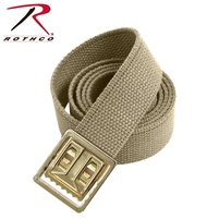 Rothco Open Face Web Belt 54 Inch Khaki/Gold