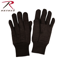 Rothco Brown Cotton Jersey Work Gloves