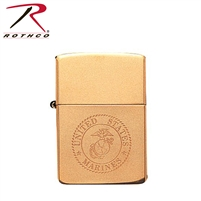 Rothco Solid Brass Marine Corps Zippo Lighter