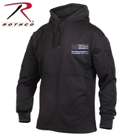Rothco Thin Blue Line Concealed Carry Hoodie - Black