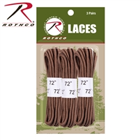 Rothco Boot Laces 3-Pack - Coyote 72 Inches