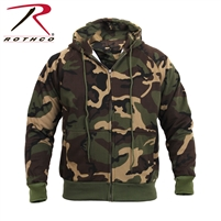 Rothco Thermal Lined Hooded Sweatshirt - Camo - 2XL