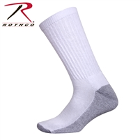 Rothco White Crew Socks With Cushion Sole
