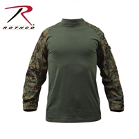 Rothco Military FR NYCO Combat Shirt - Woodland Digital 2XL
