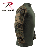 Rothco Military FR NYCO Combat Shirt - Woodland Digital 3XL