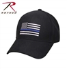 Rothco Thin Blue Line Flag Low Profile Cap - Black