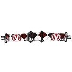 Virtue Vio Goggle Strap - Argyle White Red