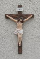 "Affordable 9"" Resin Wall Crucifix"
