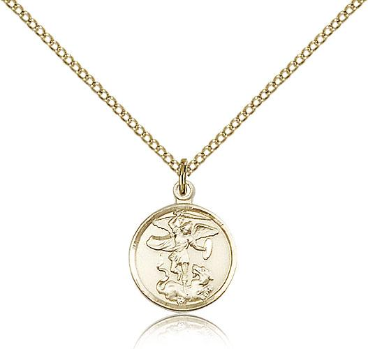 Gold filled st michael the archangel pendant gold filled lite curb gold filled st michael the archangel pendant gold filled lite curb chain aloadofball Images