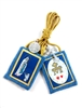 G: Our Lady of Lourdes Brown Scapular with Gold Cord
