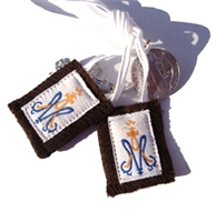 E: Child's White Cord Brown Scapular