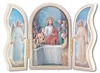 Gold Embossed White Communion Triptych 1205W-372