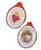 Sacred Heart of Jesus Fabric/Paper Badge