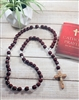 Large Wood Bead Cord Rosary