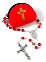 Confirmation Rosary with Rosary Pouch