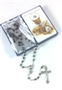 First Holy Communion Rosary and Holy Card Boy Set