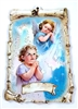 Girl with Angel Wall Plaque