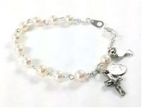 First Communion Pearl Bead Bracelet