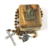 Our Lady of Lourdes Olive Wood Box with Relic Rosary