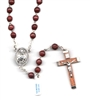 Brown or Black Cocoa Bead Rosary R6701