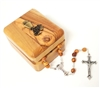 First Holy Communion Olive Wood Box and  Rosary