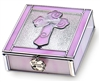 Pink Enamel Girl Keepsake Baptism Box N1803PK