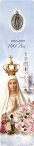 Our Lady of Fatima 100 Year Anniversary Bookmark with Medal HBM575