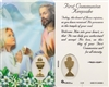 First Communion Keepsake Girl Laminated Holy Card C129