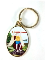 Saint Michael Keychain from Shomali