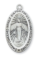 Sterling Silver Miraculous Medal L311MI