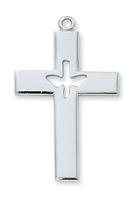 Sterling Silver Holy Spirit Cross L6093P