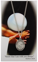 Girls Volleyball Prayer Card and Saint Christopher Pewter Medal Set PSD676VB