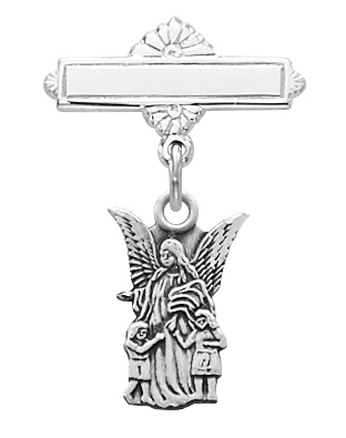 Sterling Silver Guardian Angel Baby Pin 467L