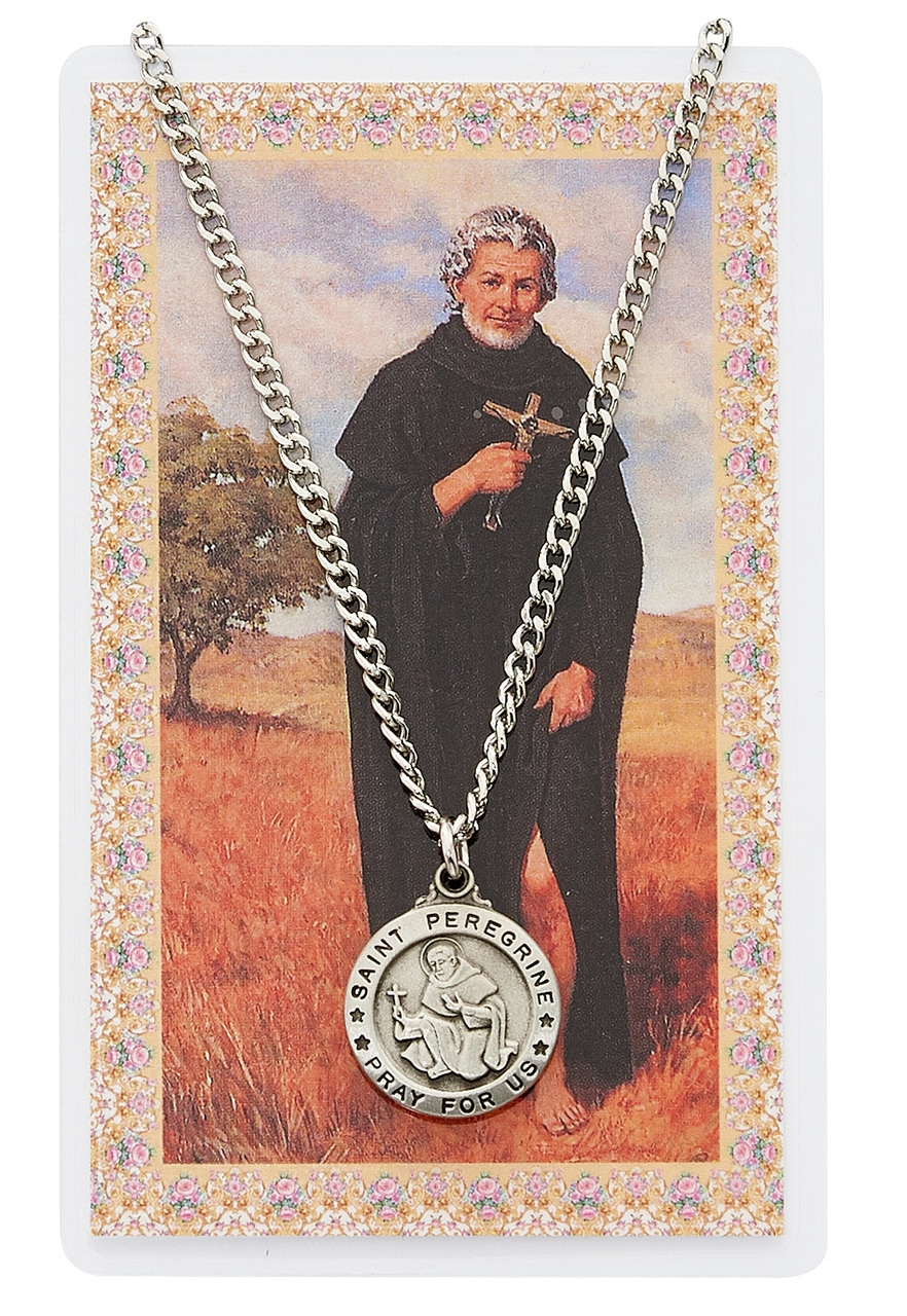 Peregrine pendant and prayer card set st peregrine pendant and prayer card set mozeypictures Image collections