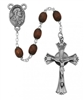 Brown Genuine Wood Bead Rosary 600D/F