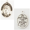 Sterling Silver Saint Teresa of Calcutta Medal L744