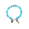 Aquamarine (March) Birthstone Rosary Bracelet BR809C
