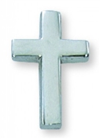 Rhodium Plated Cross Lapel Pin PIN-CRS