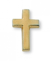 Gold Cross Lapel Pin PIN-CRSG