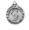 Sterling Silver Guardian Angel Pendant L700GA