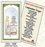 Confirmation Prayer Paper Holy Card HC9-152E