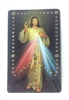 Divine Mercy Mysteries of The Rosary Holy Card PVC GOLD68