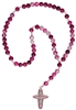 Rosary Child's Gemstone Purple/Pink RC43