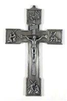 "6"" Pewter Passion Crucifix JC-846-E"