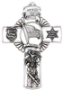 Fine Pewter Policeman Cross JC-9493-E