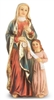"4"" ST. ANNE HAND PAINTED SOLID RESIN STATUE 1736-610"