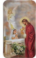 3D First Communion Boy/Girl Holy Card