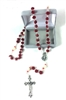 Red and Cream Rosebud Rosary 95133-07-CE1