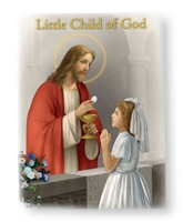 Little Girl or Boy Child Of God First Communion Prayer Book Wallet Set