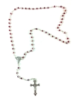 Red Ruby Glass Bead Rosary 990151-08